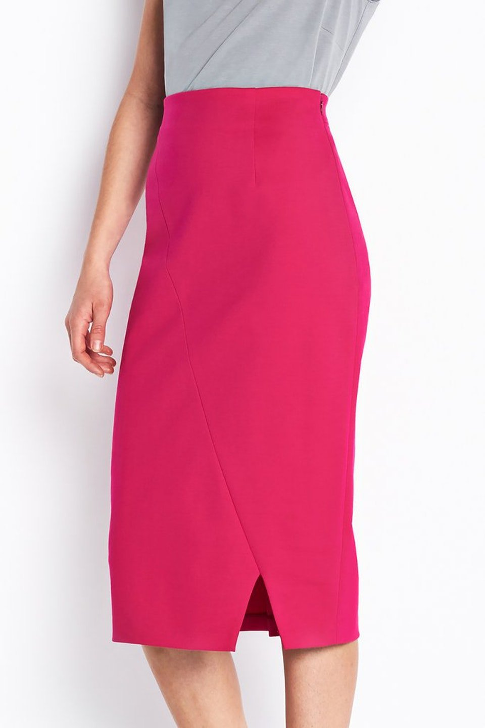 Electric Pink Beatrice Pencil Skirt | Of Mercer
