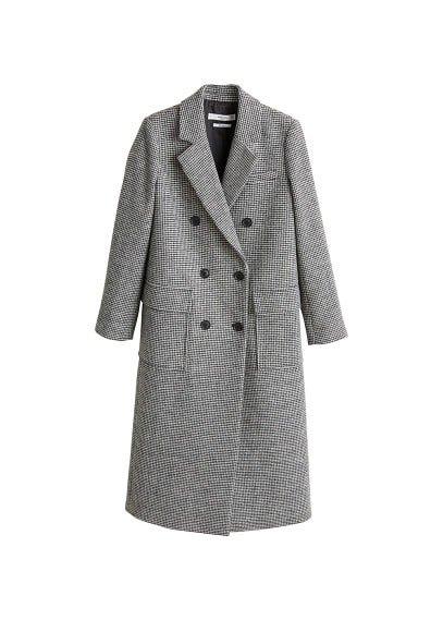 MANGO Structured houndstooth coat