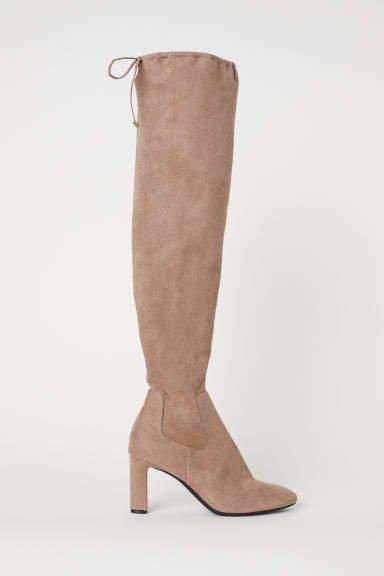 Thigh-high Boots - Brown