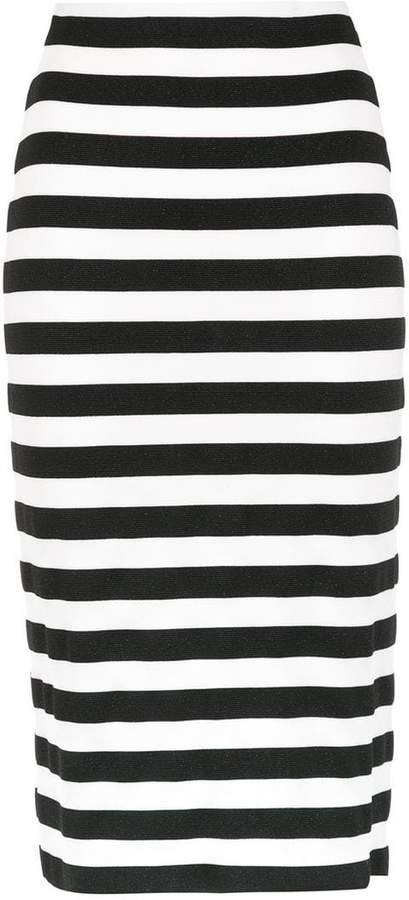 Nk striped midi skirt