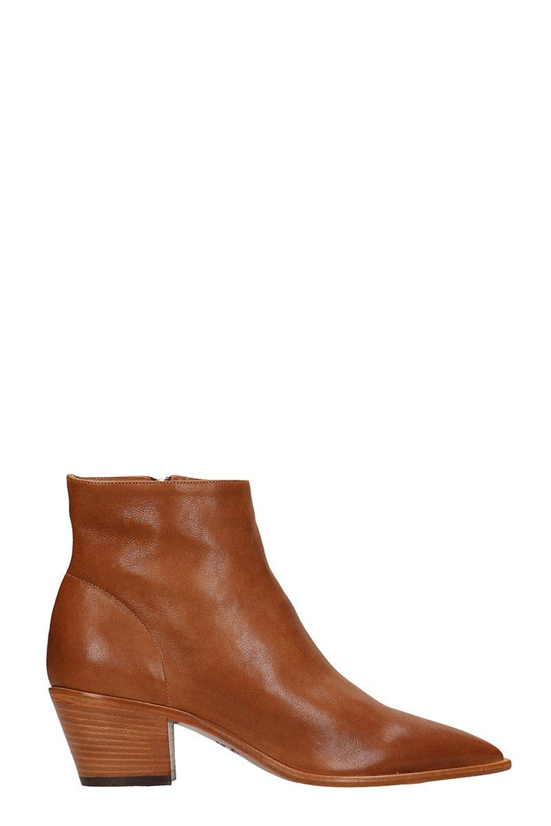 Julie Dee Choco Calf Leather Ankle Boots