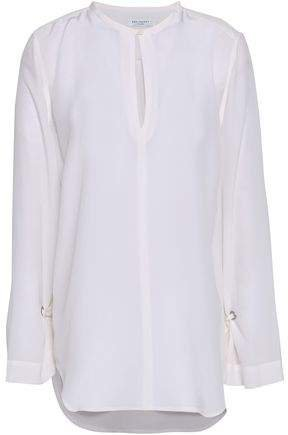 Sayer Tie-detailed Washed-silk Blouse