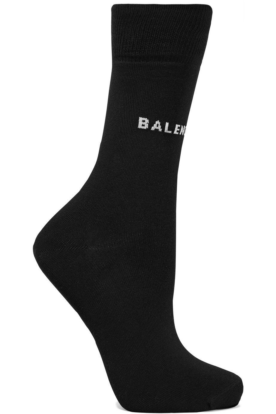 Balenciaga   Intarsia cotton-blend socks   NET-A-PORTER.COM
