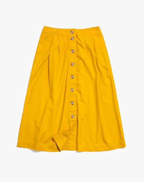 Patio Button-Front Midi Skirt