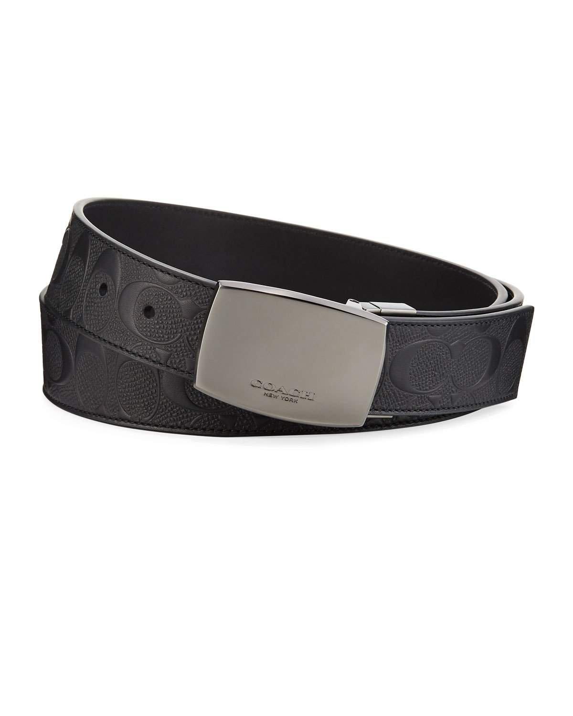 Coach Classic Plaque Reversible Leather Belt