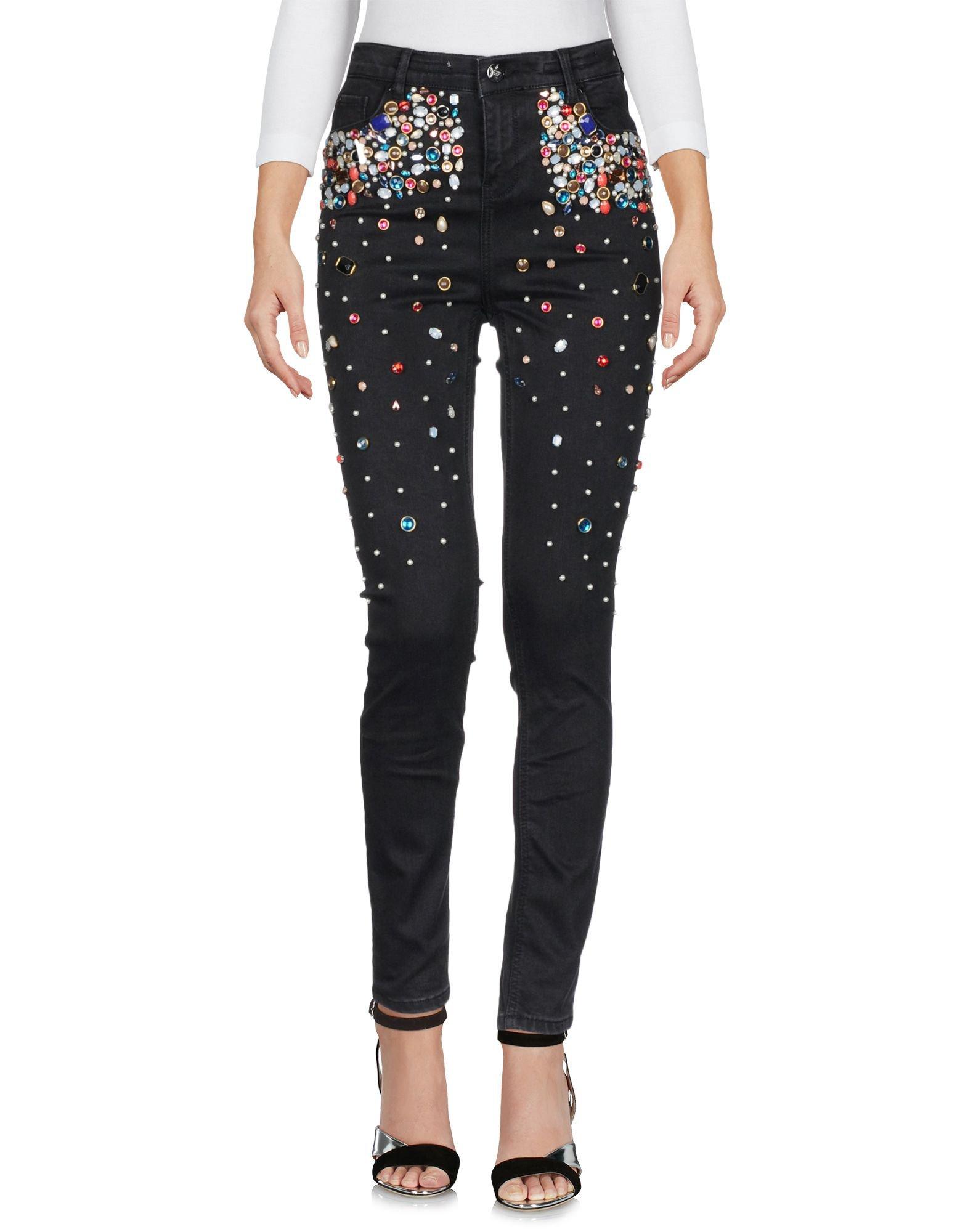 Silvian Heach Denim Pants - Women Silvian Heach Denim Pants online on YOOX United States - 42670839BJ
