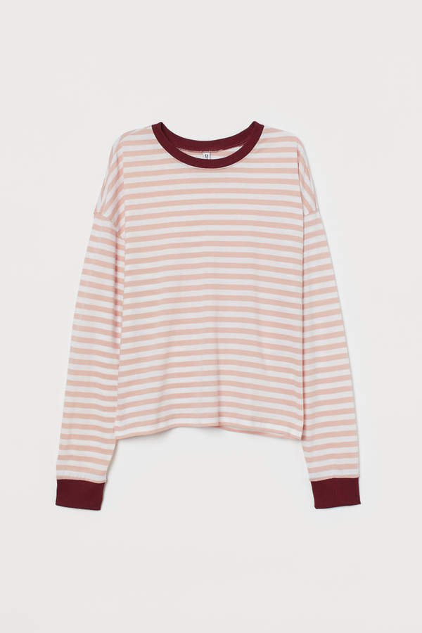 Striped Jersey Top - Red