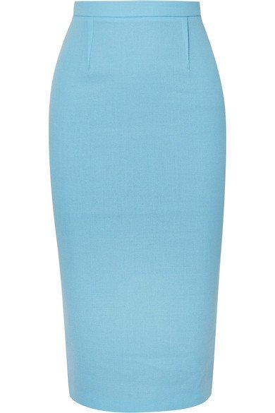 Roland Mouret   Arreton wool-crepe pencil skirt   NET-A-PORTER.COM