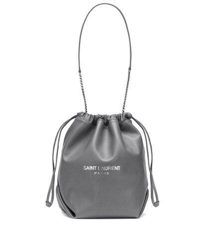 Teddy leather bucket bag
