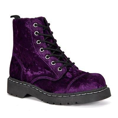 Doc Martens PURPLE Velvet Combat Boots