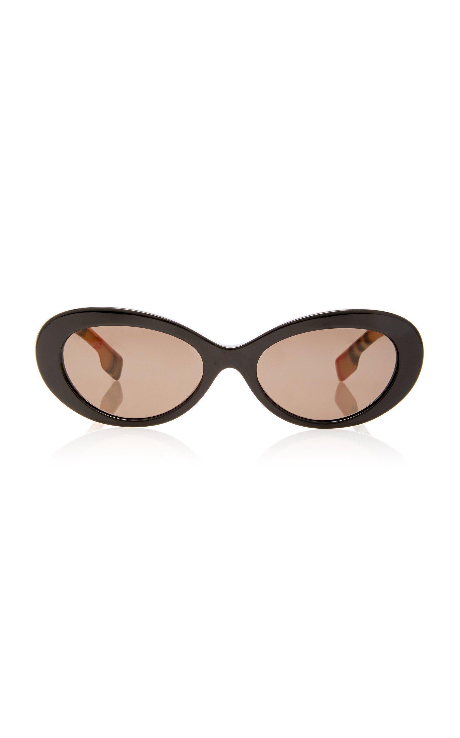 Burberry Oval-Frame Acetate Sunglasses