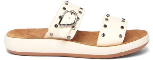 Preveza Nails Leather Sandals - Womens - White
