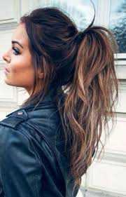 brunett high ponytail - Google Search