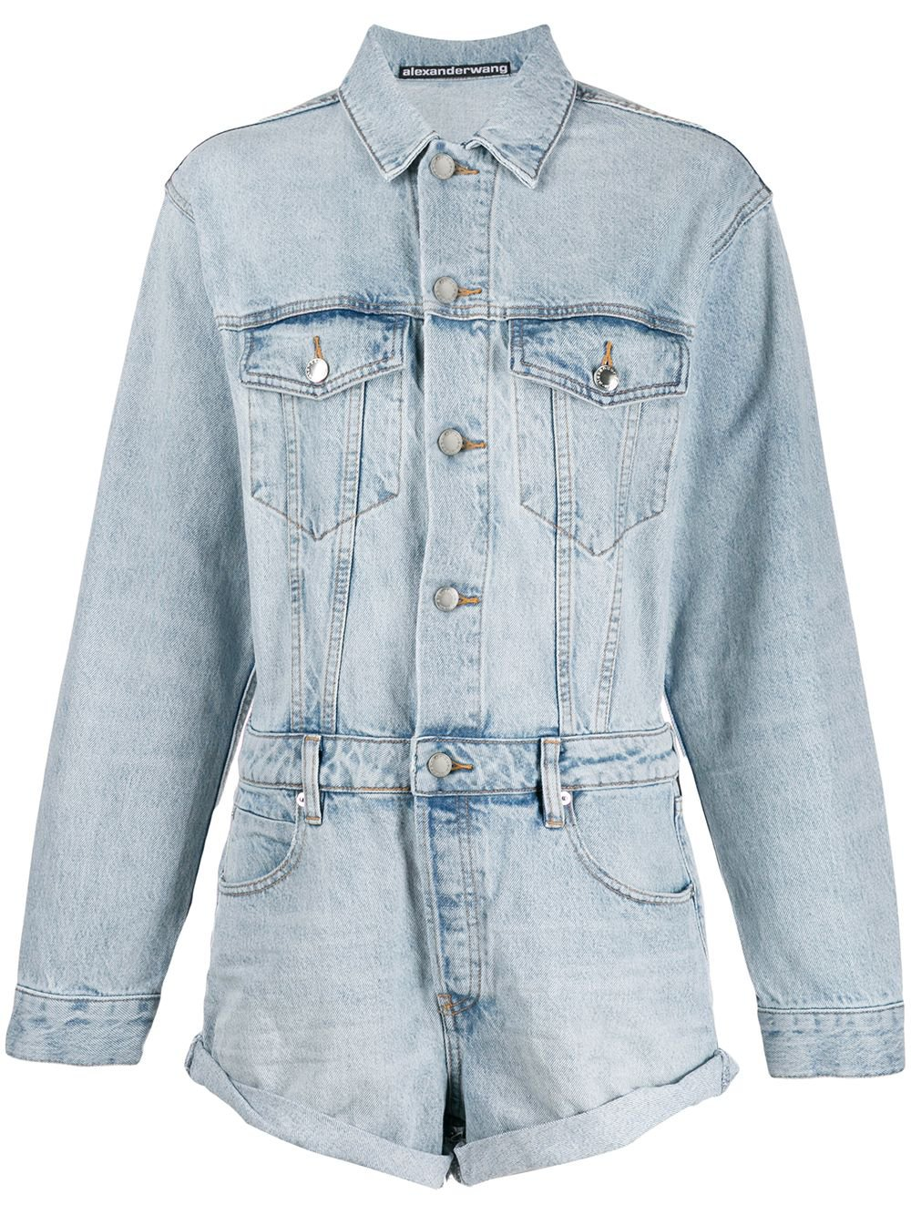 Alexander Wang Denim Playsuit - Farfetch