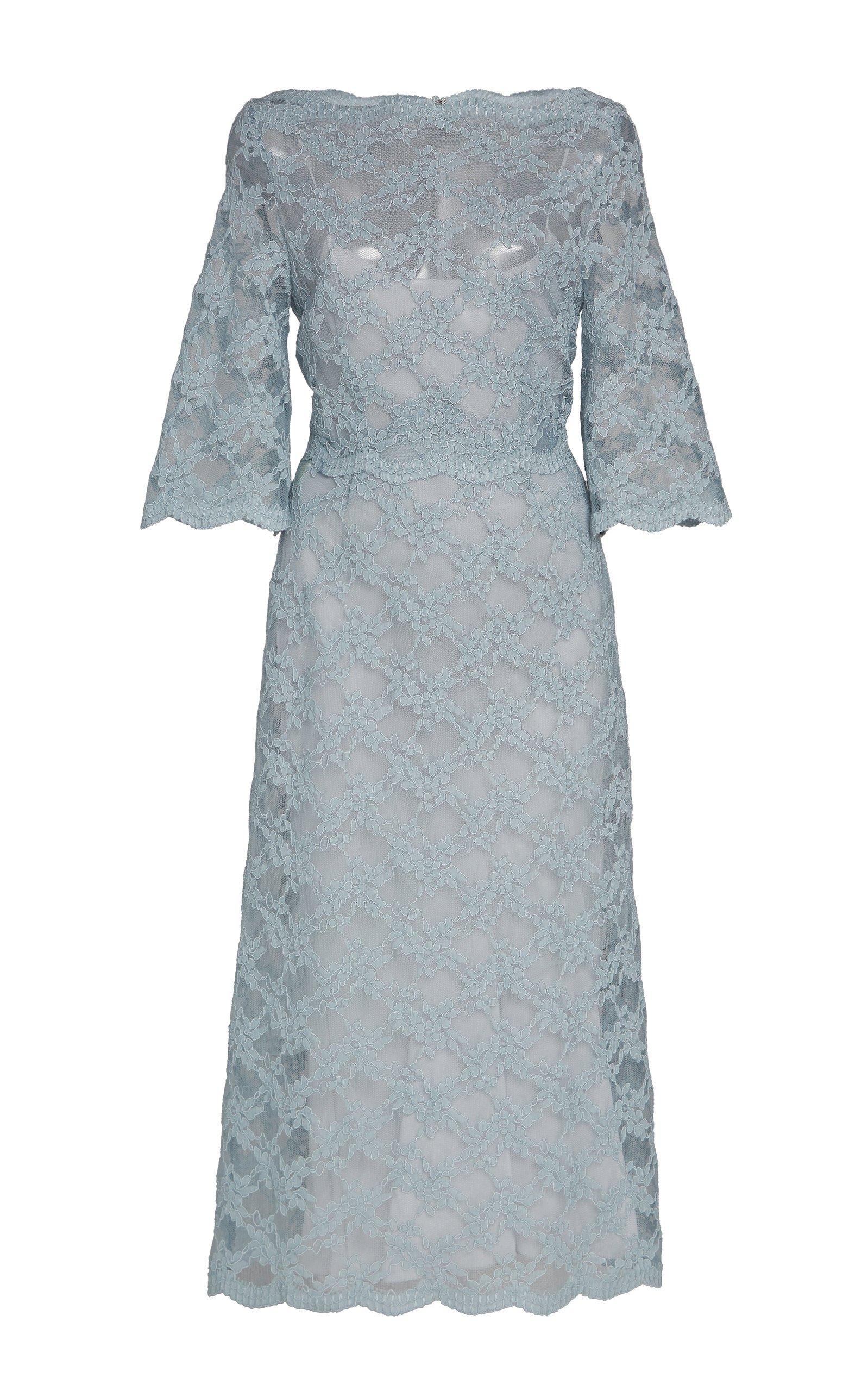 Luisa Beccaria Lace Midi Dress