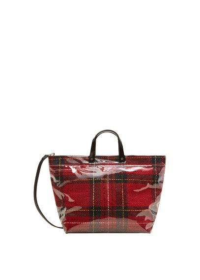 MANGO Vinyl shopper bag