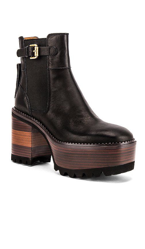 See By Chloe Casey Bootie in Nero   REVOLVE