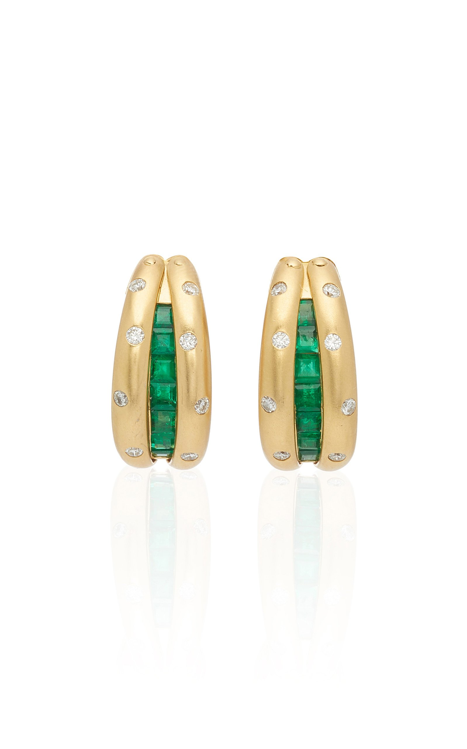 Eleuteri Parure Of 18K Gold Earrings Bracelet And Ring