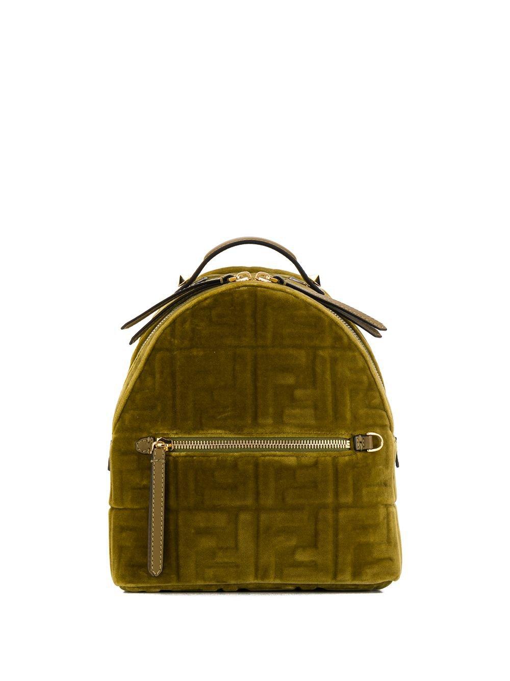 Fendi Mini Ff Velvet Backpack | Farfetch.com