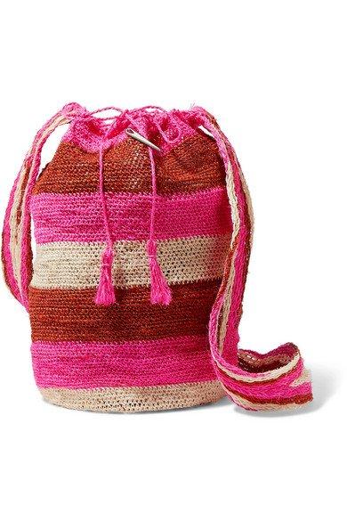 Muzungu Sisters | Rainbow Fique striped woven straw shoulder bag | NET-A-PORTER.COM