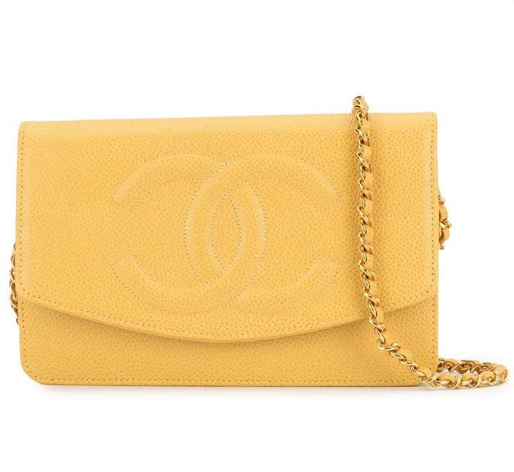 Pre-Owned 1998's chain shoulder wallet bag