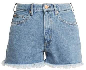 Halsy High Rise Denim Shorts - Womens - Denim