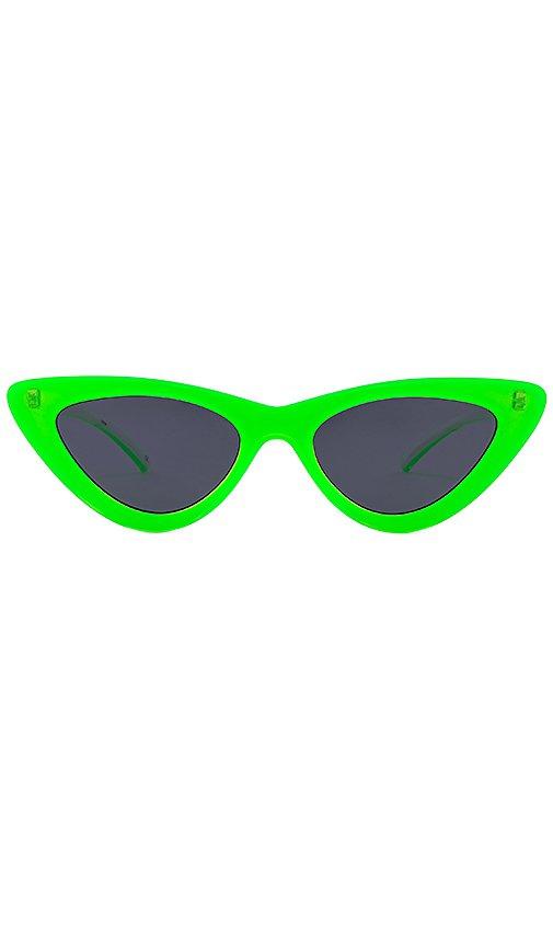 Le Specs x Adam Selman The Last Lolita in Neon Lime & Smoke Mono | REVOLVE