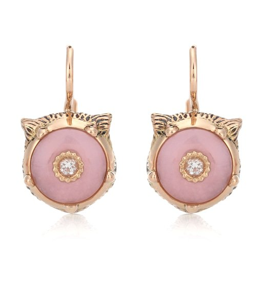 18Kt Gold And Diamond Earrings | Gucci - mytheresa
