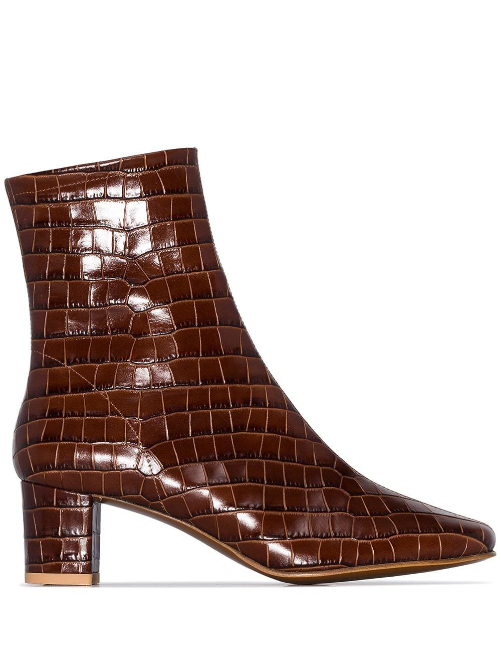 BY FAR Sofia 63 Crocodile-effect Ankle Boots | Farfetch.com