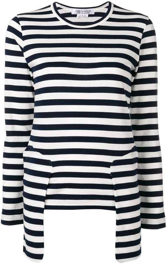 striped long-sleeved T-shirt