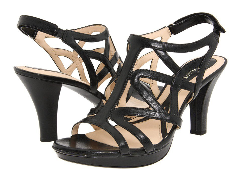 Naturalizer - Danya (Black Smooth) Women's Sandals