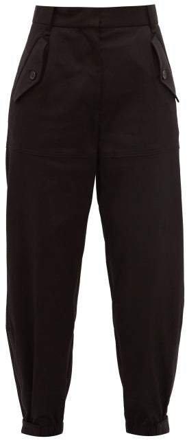 Arliss Gabardine Cargo Trousers - Womens - Black