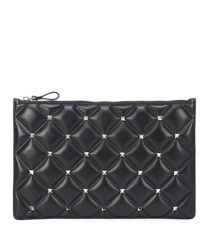 Valentino Garavani Candystud leather clutch