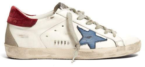 Superstar Leather Trainers - Womens - White Navy