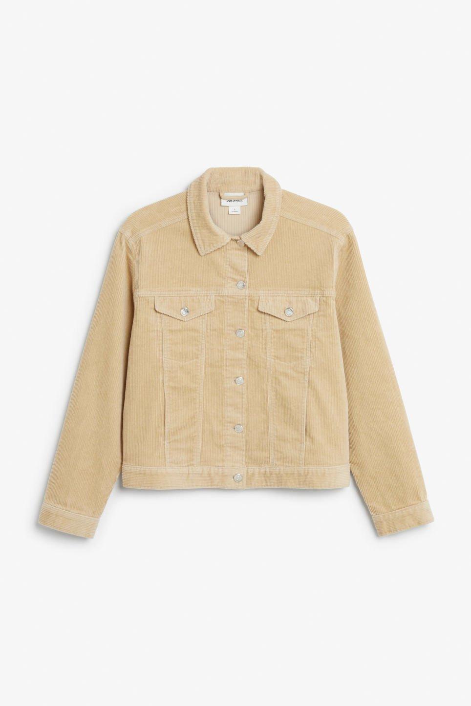Corduroy jacket - Sunday safari beige - Coats & Jackets - Monki GB