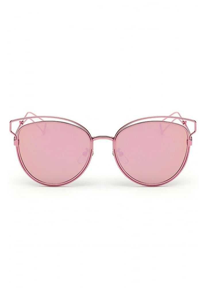 ATTITUDE CLOTHING // Pink Metal Frame Cat Eye Sunglasses