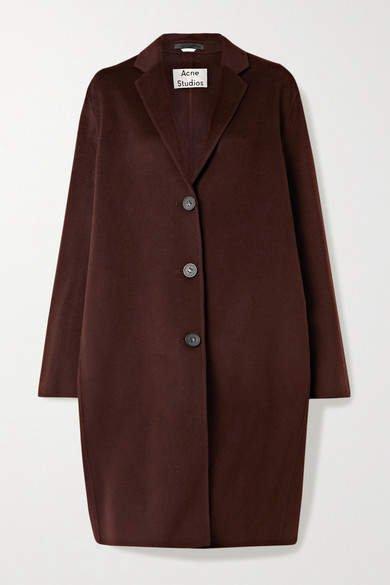 Avalon Oversized Wool Coat - Burgundy