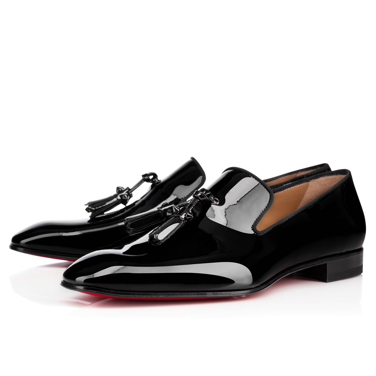 Dandelion Tassel Flat Black Patent Leather - Men Shoes - Christian Louboutin