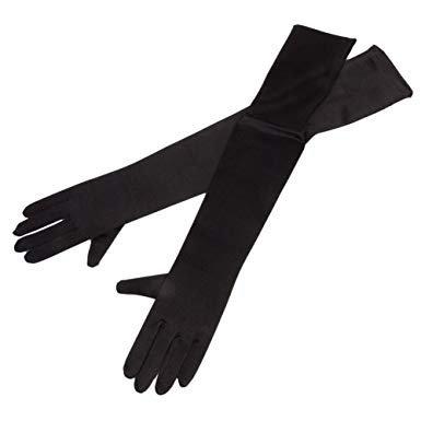 black long gloves - Google Search