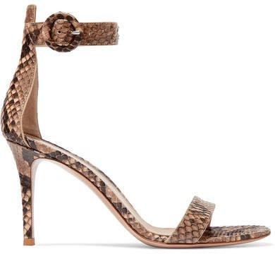 Portofino 85 Python Sandals - Snake print