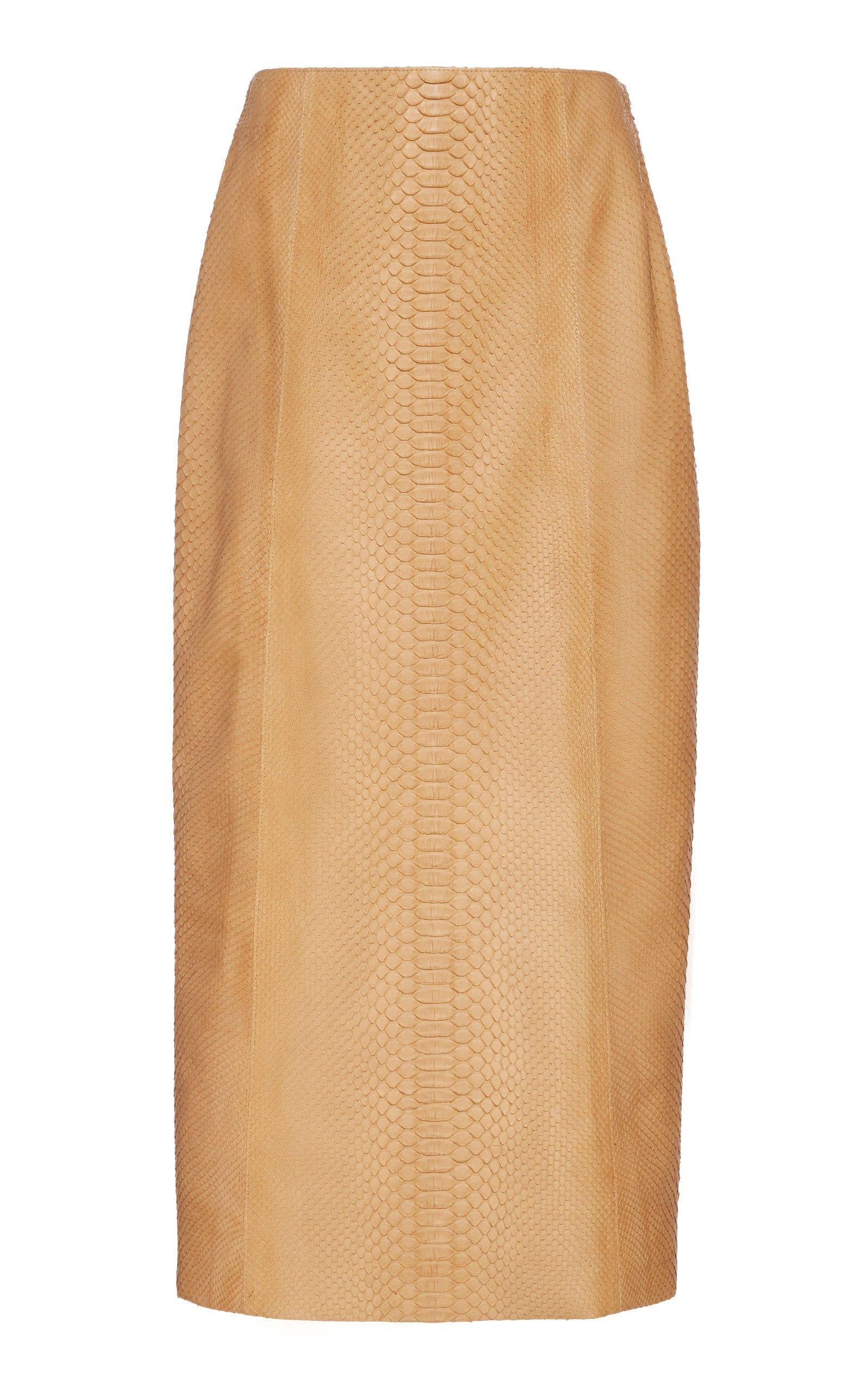 The Row Jenna Python Midi Skirt Size: 10