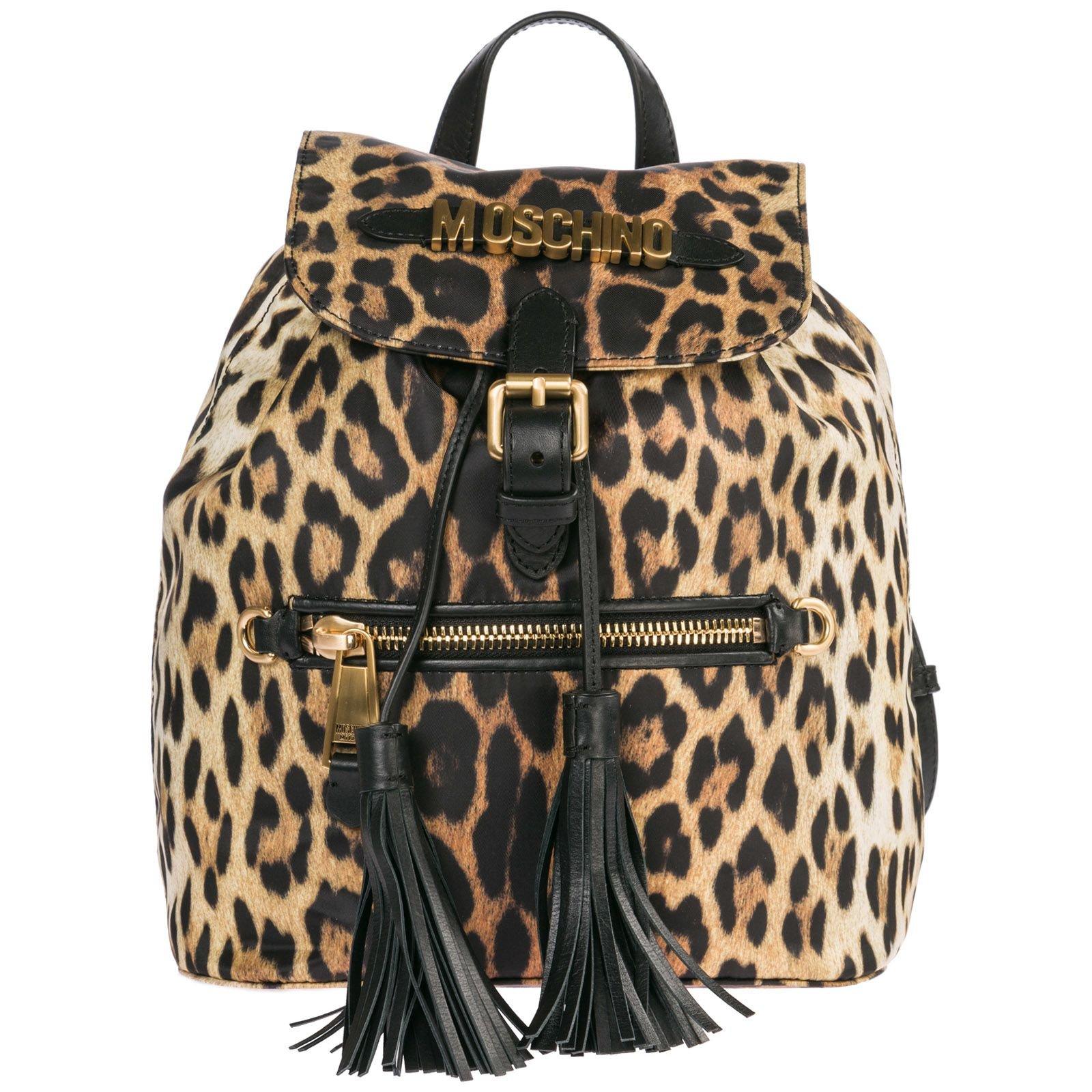Moschino Rucksack Backpack Travel Leopard