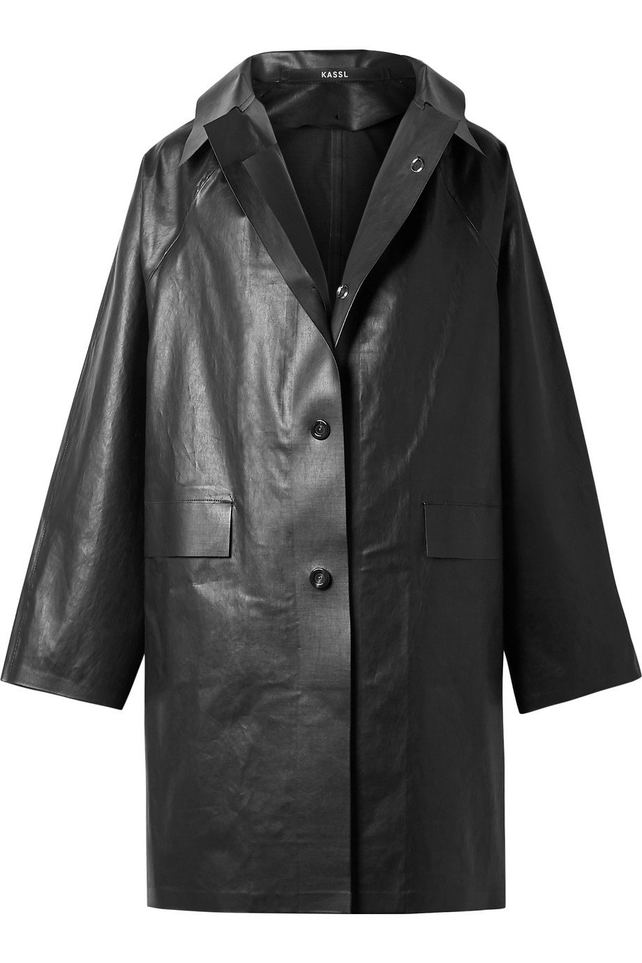 Kassl Editions | Coated cotton-blend coat | NET-A-PORTER.COM