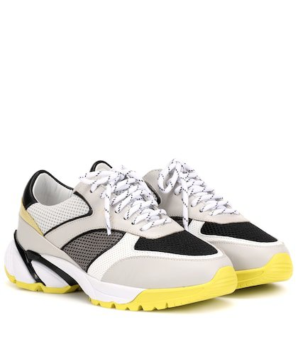 Tech Runner leather sneakers