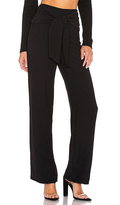 superdown Jordayn Tie Waist Pants in Black | REVOLVE
