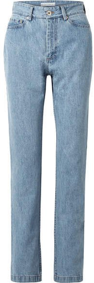 Matthew Adams Dolan - High-rise Straight-leg Jeans - Blue