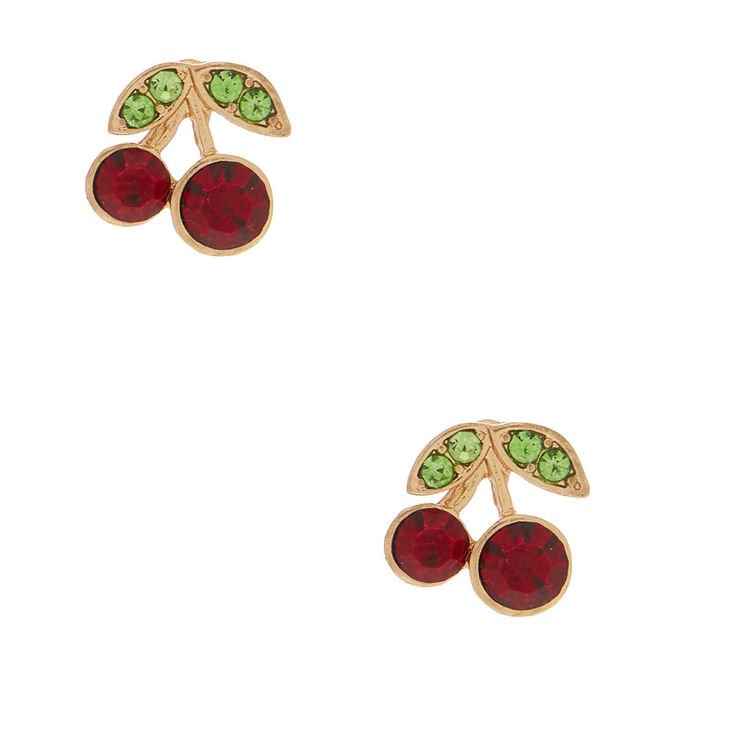 Cherry Stud Earrings | Claire's US