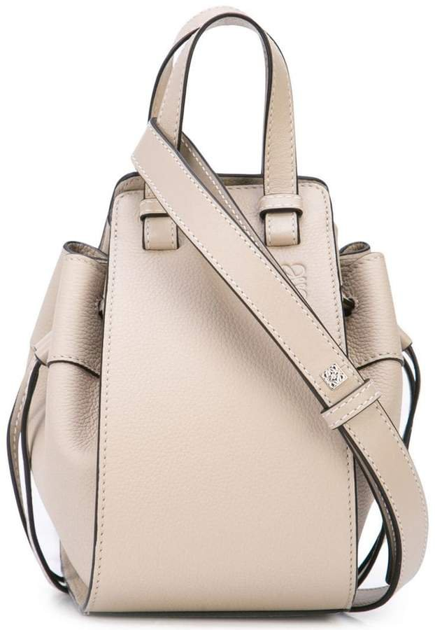 drawstring sides shoulder bag
