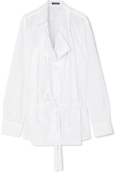 Oversized Cotton-poplin Shirt - White