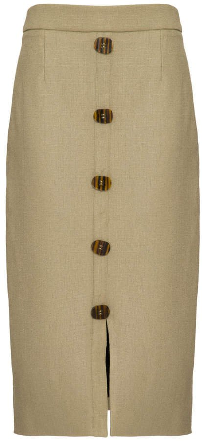 PatBO Linen Pencil Skirt Size: 0